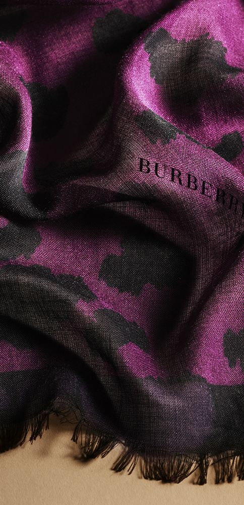 A cashmere and silk scarf in distinctive animal print from the new Burberry A/W13 collection