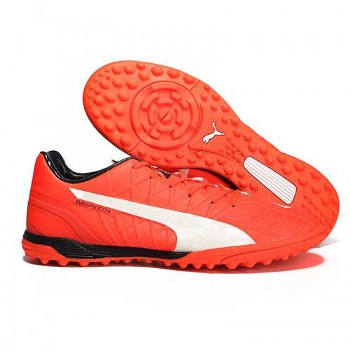 Puma EVOSPEED 4.4 TT Mens Football Boots Orange White Black