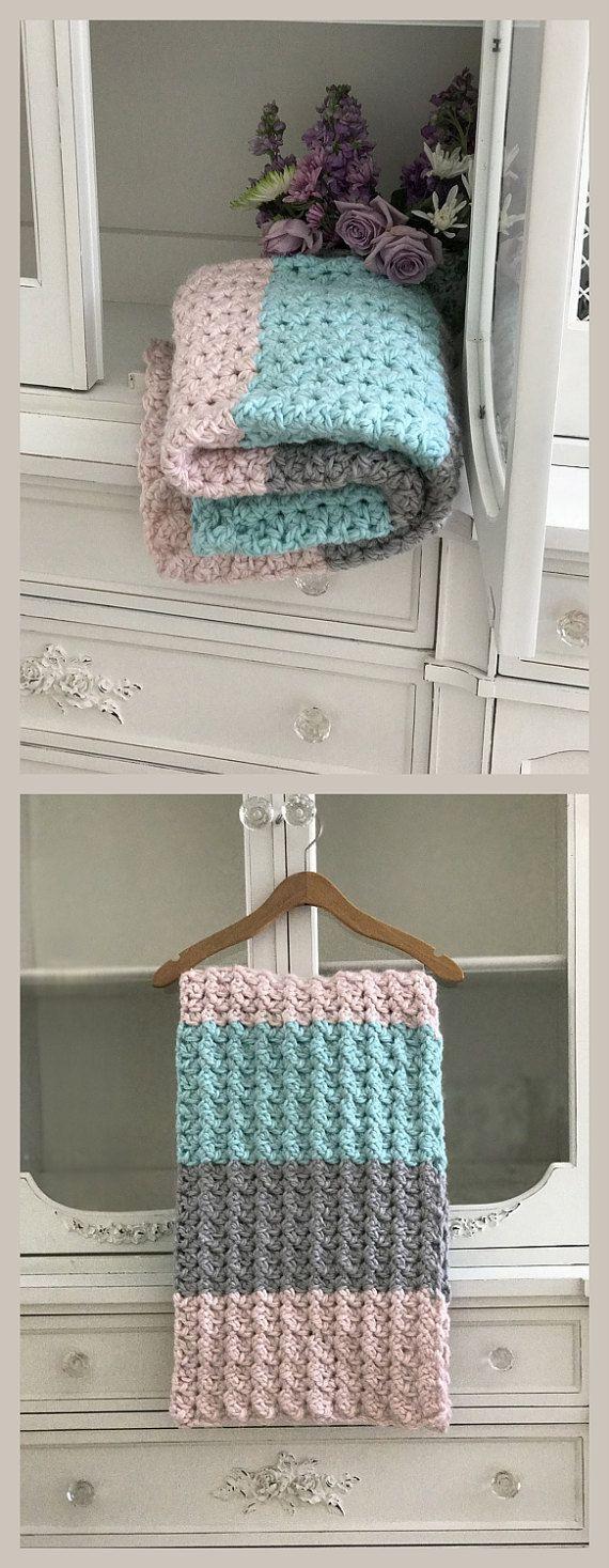 Crochet Baby Blanket Pattern  Chunky & by DeborahOLearyPattern