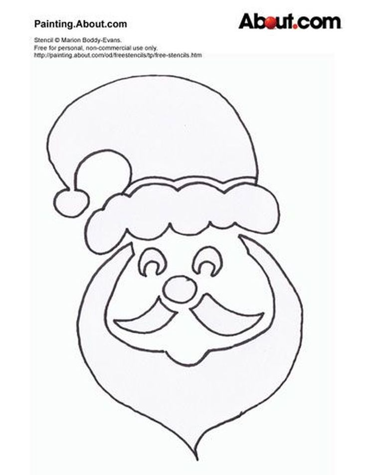 36 best Christmas Stencils images on Pinterest | Bricolage ...