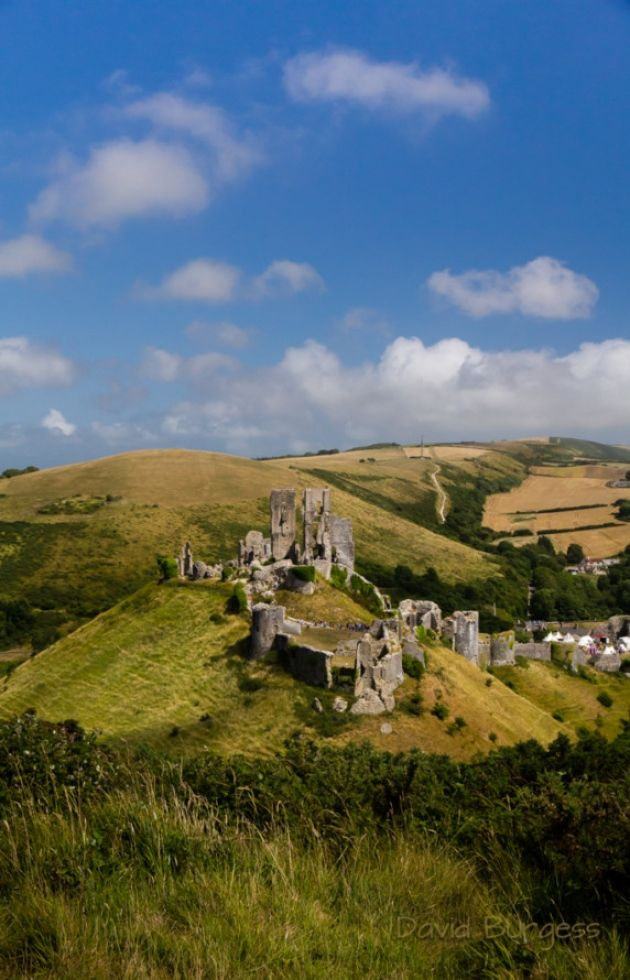 Corfe Castle from West Hill - Dorset, England
