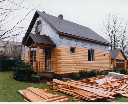 Modulog Industries Manufactures Solid Cedar Log Siding Packages