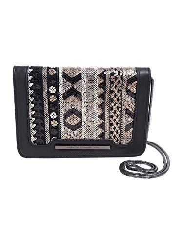 New Trending Clutch Bags: French Connection Womens Vanessa Clutch Black/Deco Lamb PU/Sequins Cross Body. French Connection Women's Vanessa Clutch Black/Deco Lamb PU/Sequins Cross Body  Special Offer: $36.00  266 Reviews Snap closure. Chained crossbody strap. Exterior back slip pocket. Signature logo engraved detail in front. Lining made of polyester and cotton. Interior back-wall...