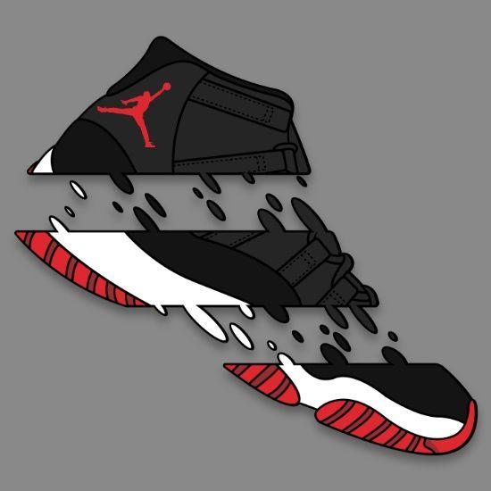 """11 """" BRED """" - Art Print - Sneaker Art"""