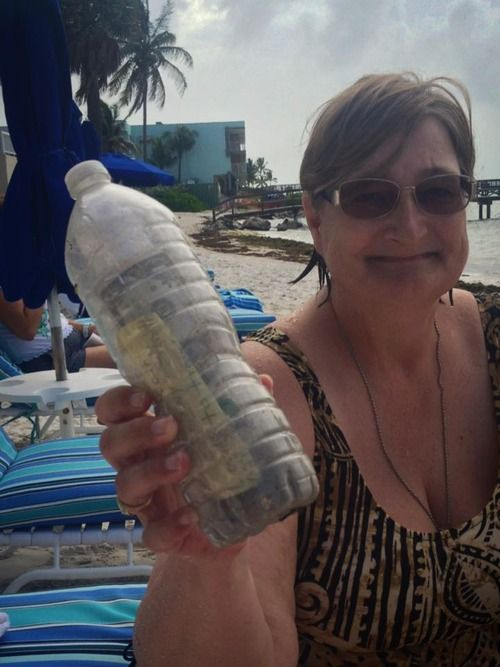 So one of our owners Judi was walking on the beach this morning cleaning up the