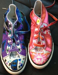 Stylin' Sharpie Shoes   AllFreeKidsCrafts.com