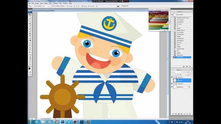 Illustrating drawing painting - cartoon sailor