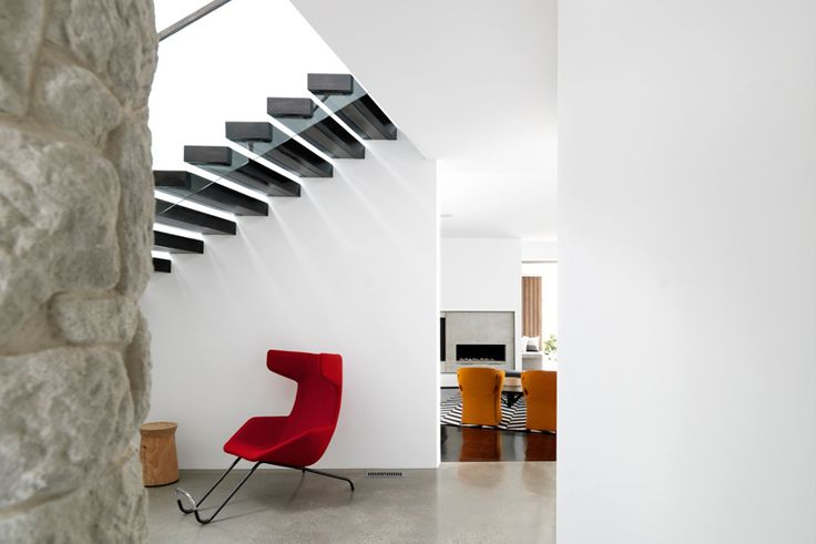 Hallway & Stair Details - Bronte Beach House by Decus Interiors