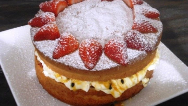 Natvia Sponge Cake with Passionfruit and Cream. While I haven't tried this yet, I am going to. It looks delicious!