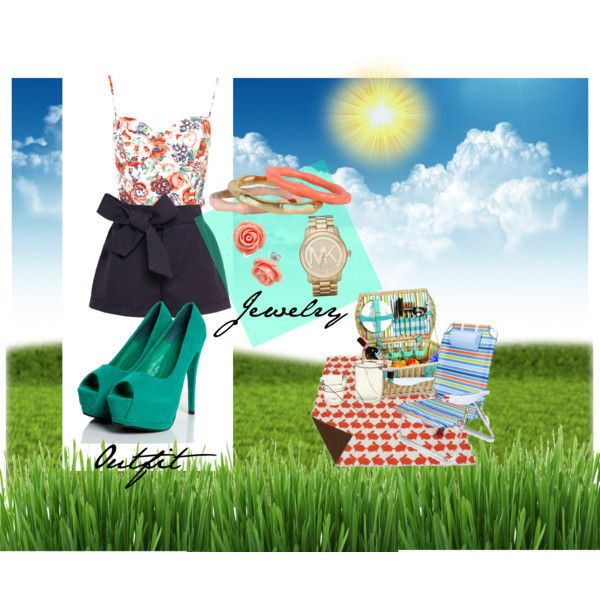 A fashion look from July 2012 featuring floral shirt, cotton shorts and heels & pumps. Browse and shop related looks.