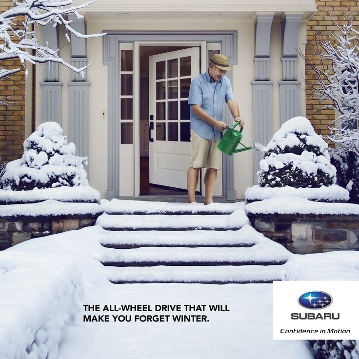 The all-wheel drive that will make you forget winter. Advertising Agency: agence Rinaldi, Montreal, Canada Creative Director: Michel Van Houtte A