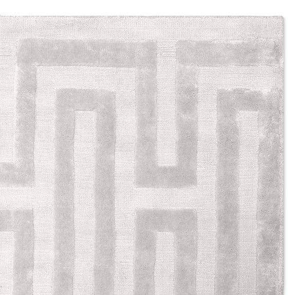 Textured Tencel Hand Knotted Rug Light Grey In 2020 Rugs Hand Knotted Rugs Rug Texture