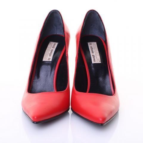 Pantofi piele rosie | The Boutique
