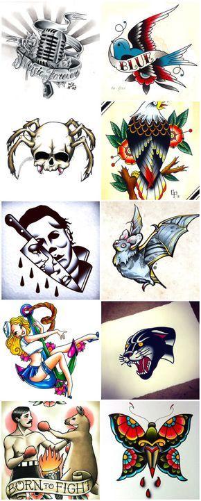 70 traditional old school tattoo flashes | art | pinterest | tattoos