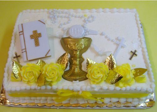 First Communion Challis Cake