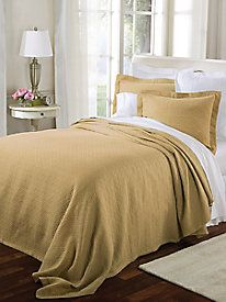 Rattan Matelasse Coverlet by linensource