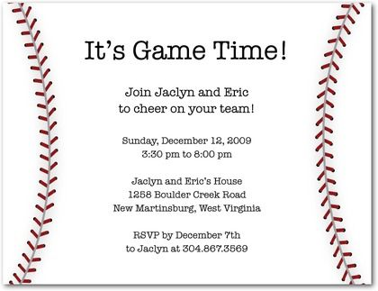 baseball party invitation for playoffs and birthday celebration, Birthday invitations