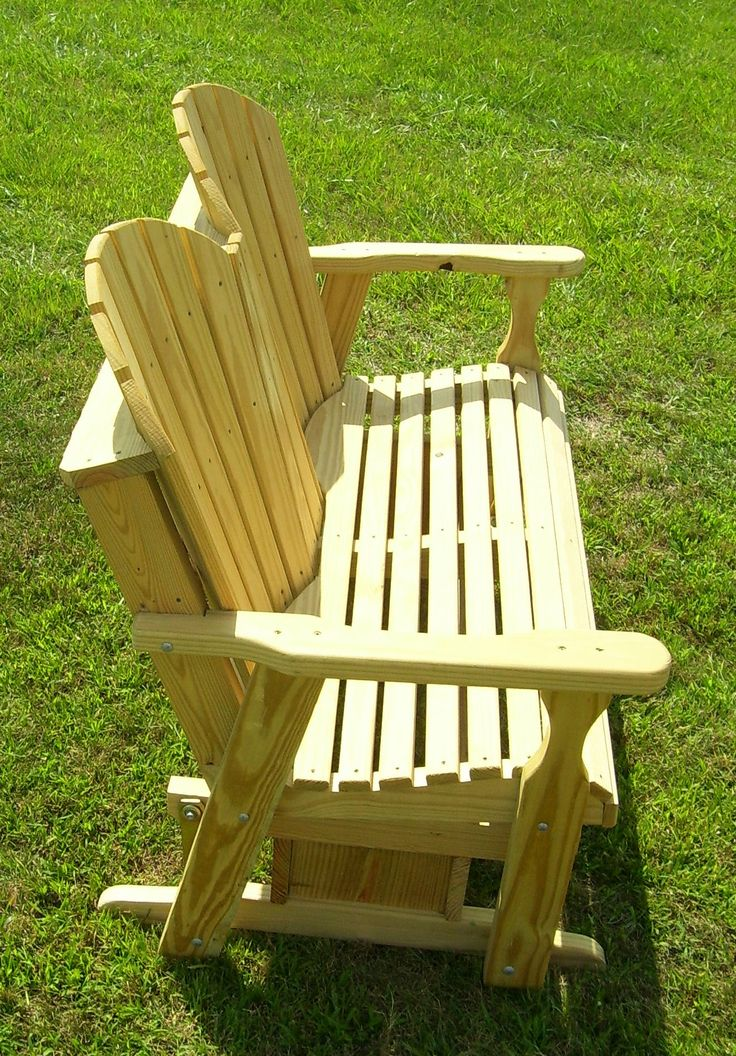 Free Adirondack Glider Bench Plans Woodworking Projects Plans