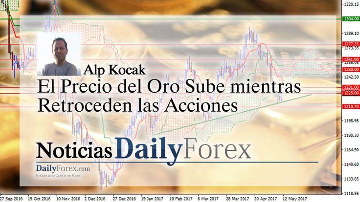 El Precio del Oro Sube mientras Retroceden las Acciones | EspacioBit -  https://espaciobit.com.ve/main/2017/05/12/el-precio-del-oro-sube-mientras-retroceden-las-acciones/ #Forex #DailyForex #PrecioDelOro #Oro #Gold
