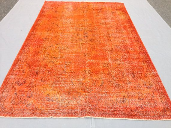 Overdyed tapijt 284x173cm 9'3 x 5'7 ft Turks tapijt door StoreKilim