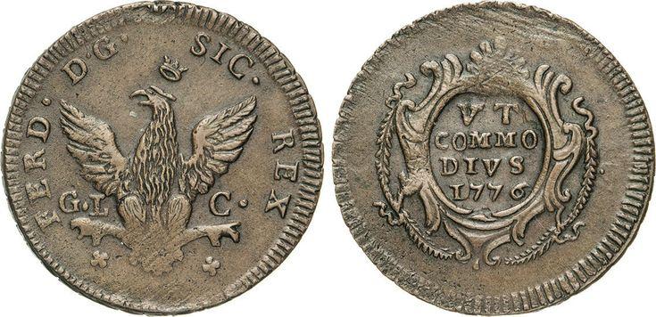 NumisBids: Numismatica Varesi s.a.s. Auction 65, Lot 548 : PALERMO - FERDINANDO III (1759-1816) 2 Grani 1776. Sp. 83 MIR...