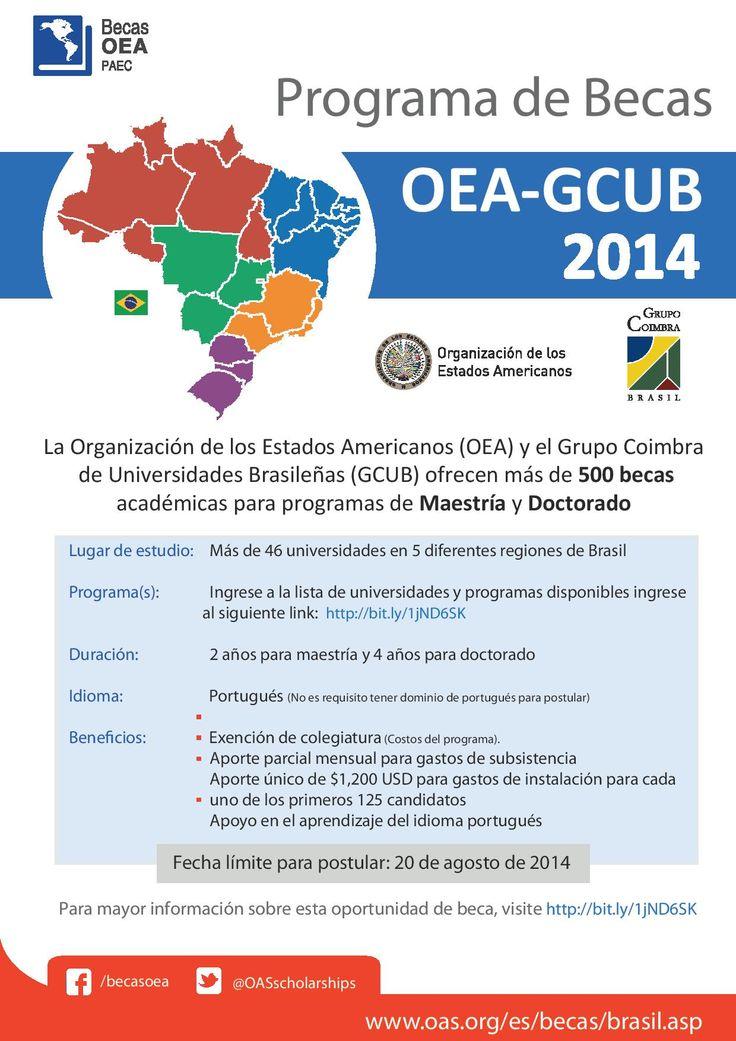 Becas #OEA para #Brasil http://www.utp.ac.pa/convocatorias-vigentes