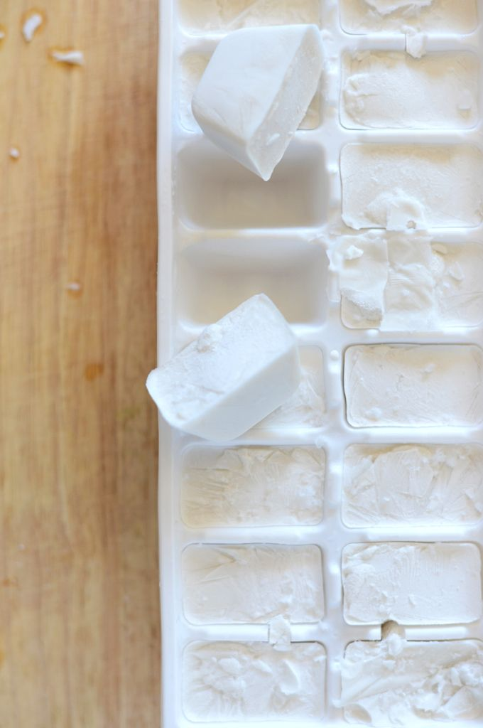 rad! freeze coconut milk in cubes to use in coffee and other smoothies!