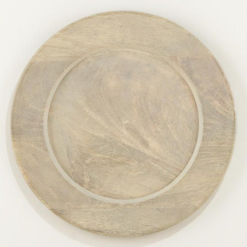 Love this for the beach.  One of my favorite discoveries at WorldMarket.com: Driftwood Charger, Set of 2