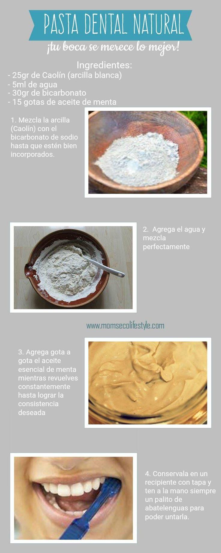 Pasta dental natural hecha en casa.