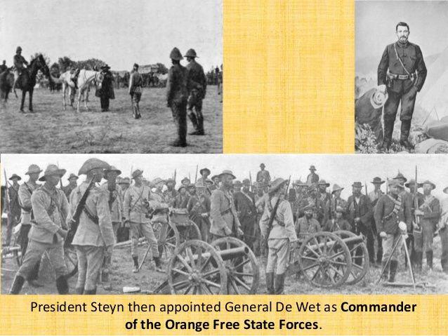 De Wet reassembled the commandos at Kroonstad, 17 March 1900.