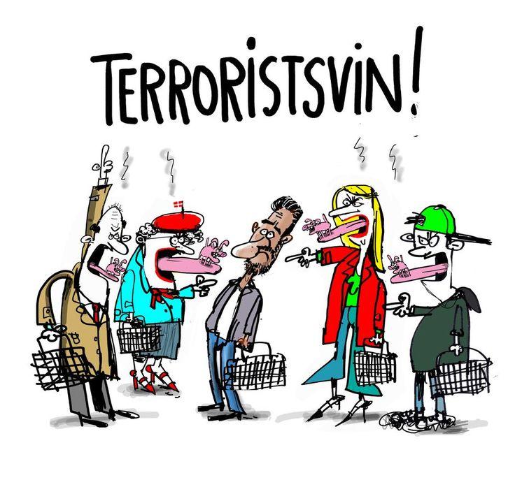 De kalder mig Terroristsvin. artikel om gymnasielærer med mørkt hår
