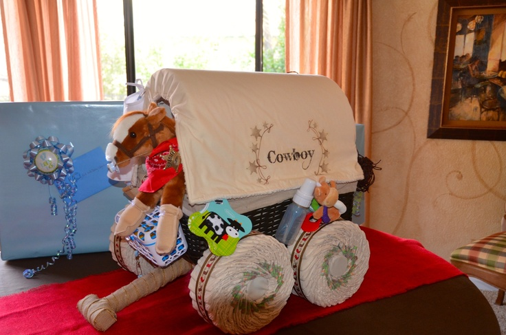 Cowboy Baby Shower Diaper Cakes