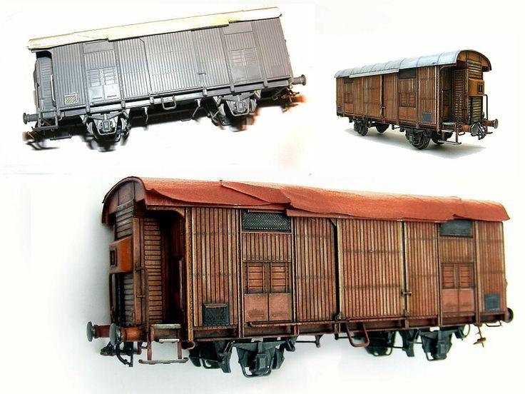 Carro merci tipo Fma delle Fs.   Varie fasi della  lavorazione.