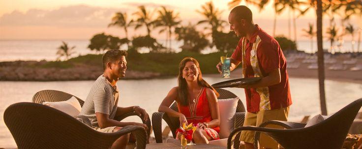 'AMA'AMA features a full bar and signature cocktails like the KonaRed Lemon Drop and the Tropical Mai Tai.