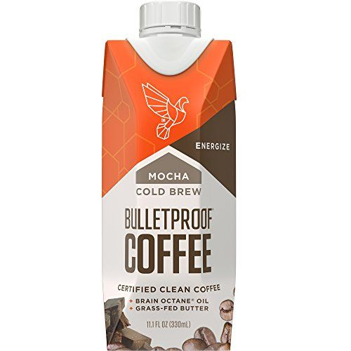 Bulletproof Coffee Cold Brew Help Promote Energy Without the Sugar Crash Mocha (12 Pack)