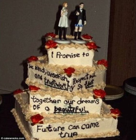 17 Funny Wedding Cake Disasters