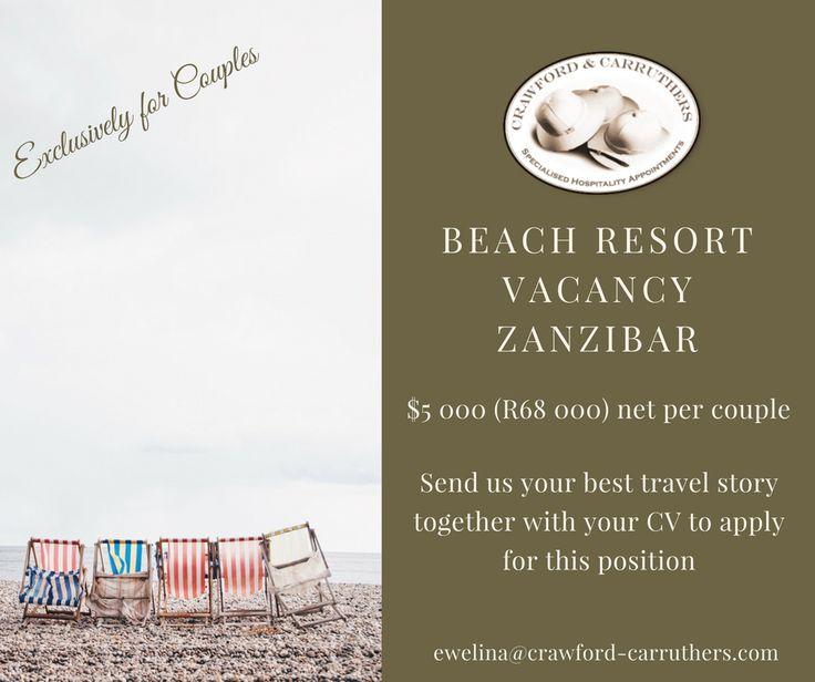 #crawfordcarruthers @crawfordandcarruthers #lifesabeach #beachjobs #zanzibar #zanzibarjobs #resortgm #resortcouples #islandjobs #islandcouples