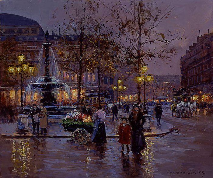 Place du Theatre de la Comedie Francaise, Edouard Leon Cortes