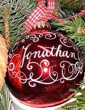 Personalisierte Geschenke Weihnachtskugel mit Namen