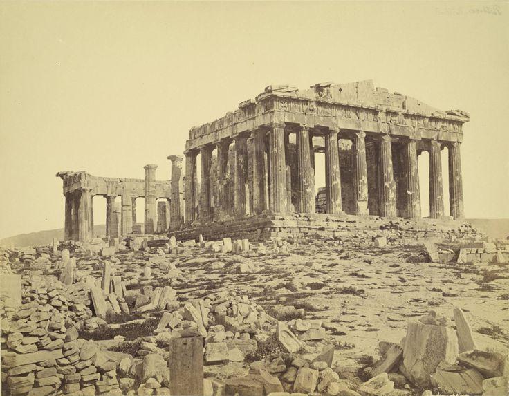 Parthenon from the Northwest, Athens, Greece, circa 1860.