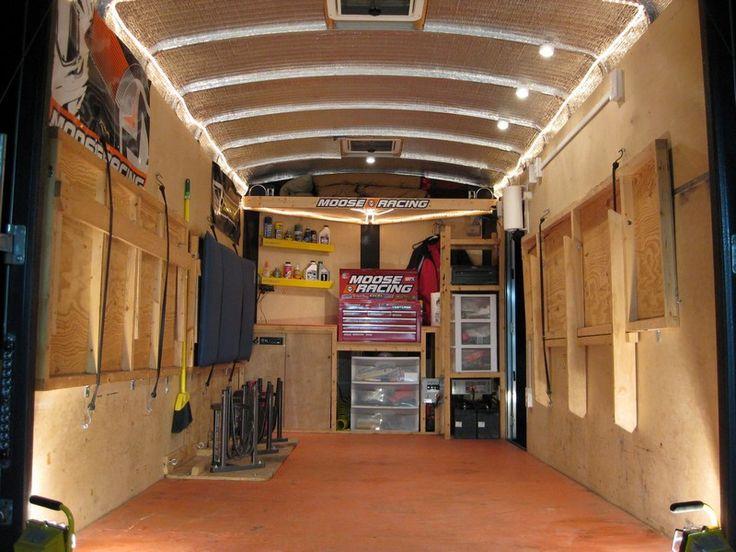 Clean setup. | Trailer | Trailer storage, Cargo trailer ...