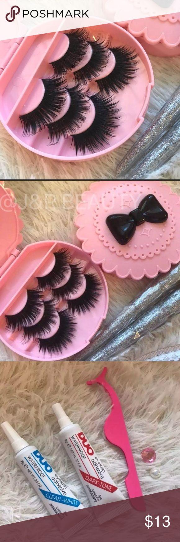 Eyelashes + Eyelash Case ✨3 kinds of Wispy eyelashes  ✨Eyelash Case   +$3 Add on eyelash glue Please message me if you want to add them.    # tags ,  Koko, Ardell, wispies, Demi , makeup, Iconic, mink, red cherry eyelashes, house of lashes, doll, kawaii, case, full, natural,  Koko, Ardell, wispies, Demi , makeup, mascara, eyelash applicator, Mykonos Mink , Lashes , wispy ,eyelash case, mink lashes, gift, eyelash gift, eyelash glue  Ship within 24 hours ❣️ Makeup False Eyelashes
