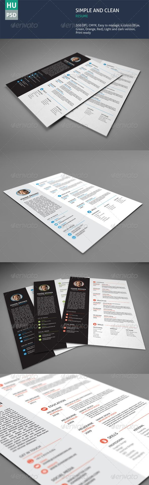 Simple Clean Resume - Resumes Stationery