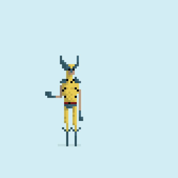 Wolverine. | 18 Wonderfully Geeky 8-Bit GIFs Of Classic Movies