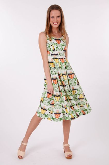 that bird label LORI Fit & Flare Dress Bell Flower - Womens Knee Length Dresses at Birdsnest Fashion