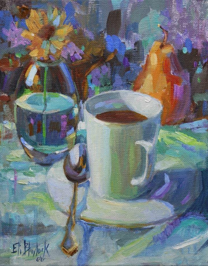 Daily Paintings By Elizabeth Blaylock, American Impressionist: COFFEE