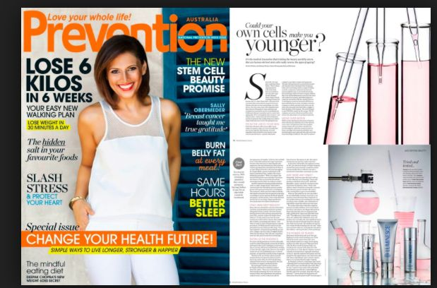 PREVENTION Magazine Australia wrote and article on stem cell technology used in the LUMINESCE skin care range.