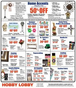 Hobby Lobby Weekly Ad February 28 – March 5, 2016