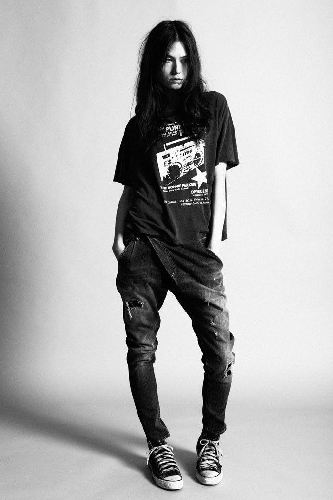 Printed 'Punk' t-shirt.