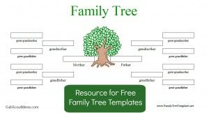 Free Family Tree Template to use for Tiger Elective, Family Stories.